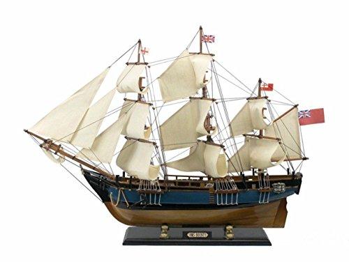 - Hampton Nautical Wooden HMS Bounty Tall Model Ship, 34