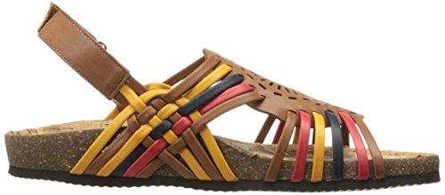 Chaussures Annie Womens Ensoleillé Plat Marron / Multi