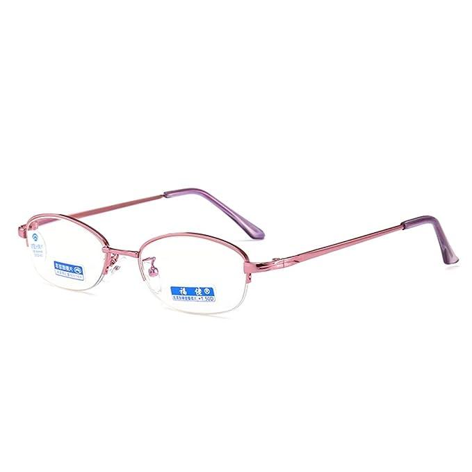 41f714645e GEMSeven Gafas De Lectura Para Mujeres Gafas De Presbicia Gafas Medias  Montura Hipermetropía Lentes De Dioptrías