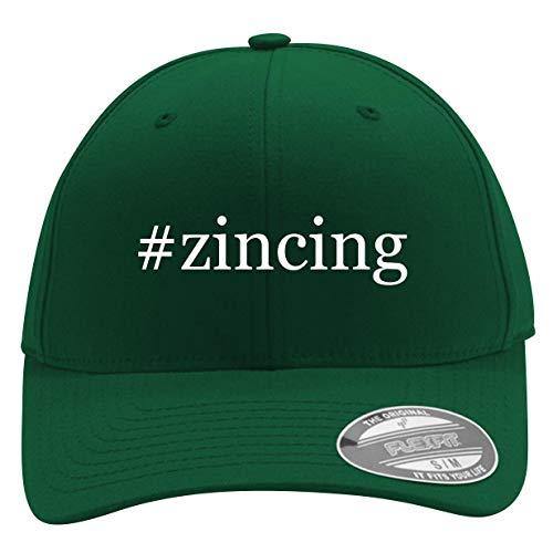 #Zincing - Men's Hashtag Flexfit Baseball Cap Hat, Forest, Small/Medium ()