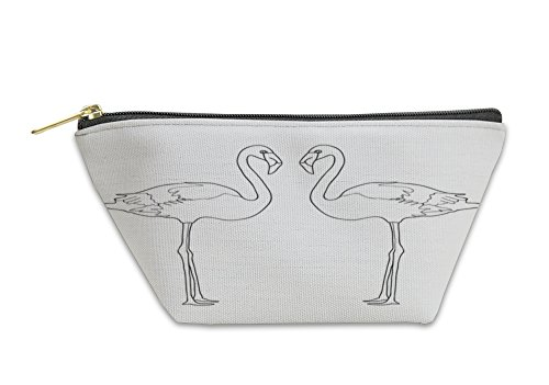 Gear New Accessory Zipper Pouch, Illustration With Two Flamingos, Large, 5624059GN by Gear New