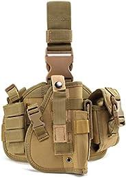 BraveHawk OUTDOORS Tactical Drop Leg Holster, 900D Military Tactical MOLLE Pistol Handgun Thigh Holster Platfo