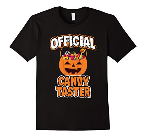Mens Official Candy Taster Funny Halloween T-Shirt Large (Funny Halloween Candy)