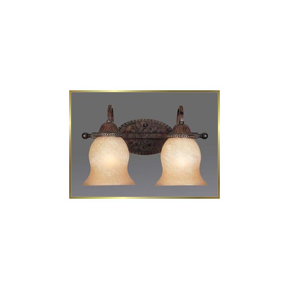 Wrought Iron Wall Sconce, JB 7214, 2 lights, Renaissance Bronze, 16 wide X 10 high
