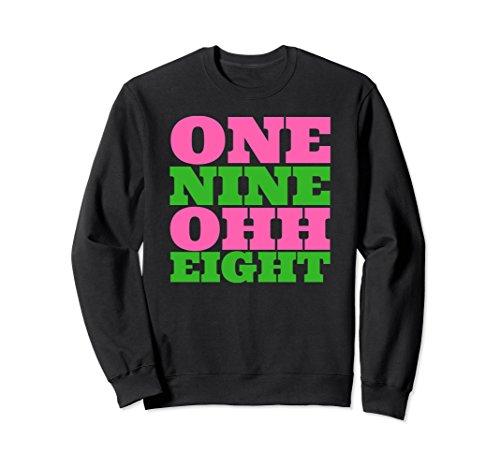 Unisex Alpha Kappa Pink Alpha Green 1908 Women's Sweatshirt XL: (Alpha Kappa Alpha Sweater)