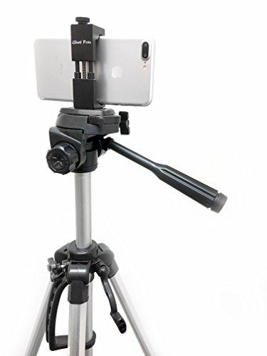 iShot Pro SecureGRIP Metal iPhone Universal Smartphone Tripod Monopod Mount Adapter Holder + 60