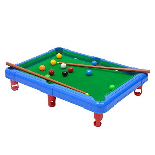 Kesoto 2カラー選ぶ おもちゃ 卓上ビリヤードゲーム ミニ テーブルトッププールセット ポータブル  - 青