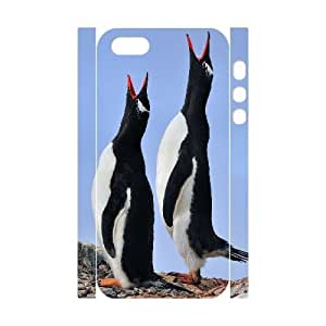 3D Gentoo Love Song A pair of Gentoo Penguins greet each other on a colony Antarctica Case For Sam Sung Galaxy S5 Cover Case Cheap For Boys, Case For Sam Sung Galaxy S5 Cover Gold [White]
