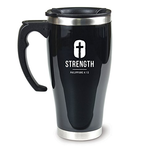 Lighthouse Christian Products Strength Acrylic/Stainless Steel Travel Mug, 18 oz by Lighthouse Christian Products