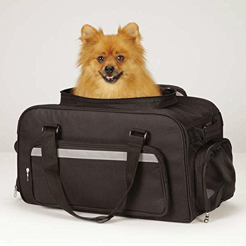 Airline Small Dog Carry On Luggage Pet Safety Travel On the Go Bag Up To 22 Lbs(Carry On Airline Carrier - Black) (East Collection Carrier Pet Side)