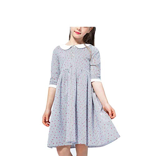 2019 Autumn Spring Kids Dresses for Girls Long Sleeve Party Dress Carnival Costume for Children Toddler Girls Princess Dress,Blue,10]()