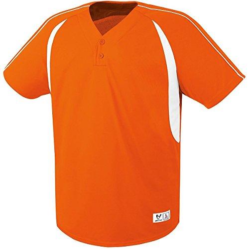 - High Five Impact Two-Button Jersey 3XL Orange/White