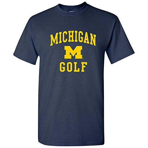 (AS1098 - Michigan Wolverines Arch Logo Golf T-Shirt - X-Large - Navy)