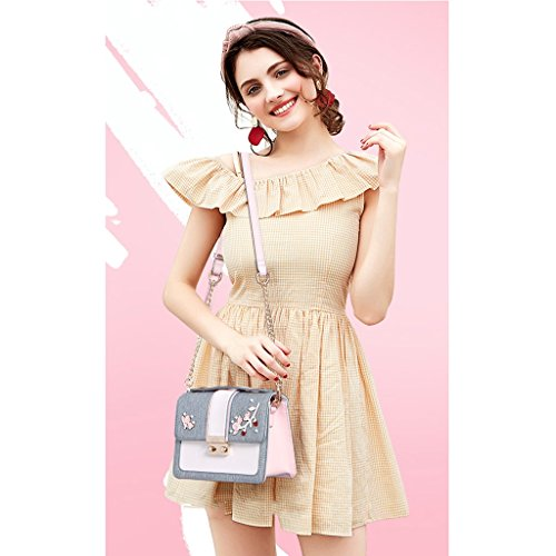 Pu Ms Leather Version Messenger Crossbody Bag Handbag Chain Korean Shoulder Jiute Girl P1SWvdywPq