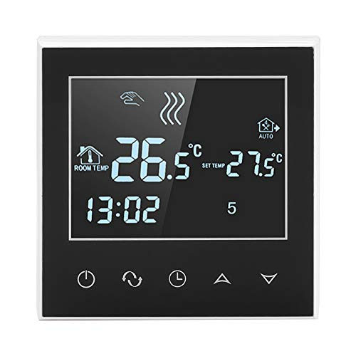 Asixx WiFi Thermostat, Programmable Thermostat Wireless Heating Thermostat Digital Thermostat with LCD Touch Screen for Motorized Valve, Thermal Valve and Electric Under-Floor Heating, App Control