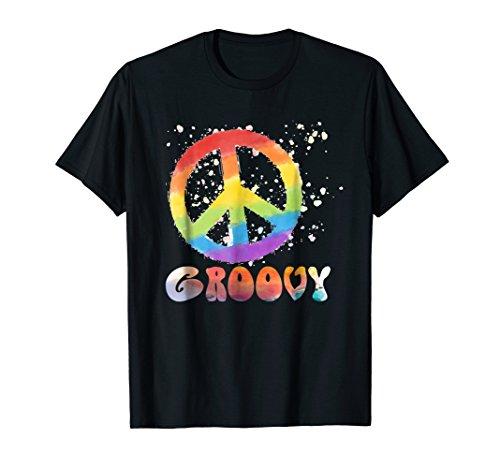 Peace Sign T-Shirt Retro Groovy 60's 70's Hippie