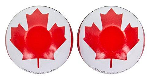 TRICK TOPS Canada Flag Valve Caps