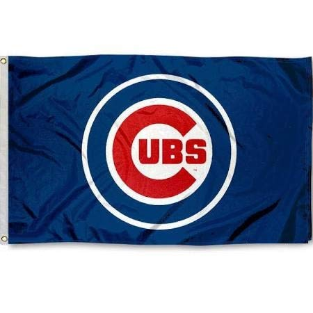 Executive Deals Chicago Cubs Baseball 3x5 Foot Indoor/Outdoor Team Flag ()