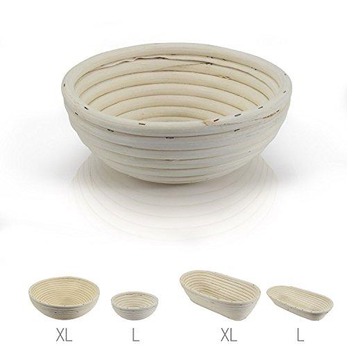 Amazy Gärkörbchen - Die ideale Brotgärform aus natürlichem Peddigrohr (rund | Ø 16cm)