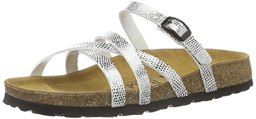 Argenté Bf Buckle Mules Silver Femme Stripes Cross Betula Mirror XYqzBW