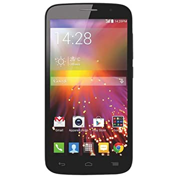 UNLOCKED Alcatel OneTouch Pop Icon 7040T Google Android Phone, BLACK,  Telus, Rogers, Fido, Bell, Virgin, Koodo, Chatr, Videotron, Wind Mobile,