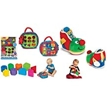 Take-Along Shape Sorter and Learning Shoe Baby and Toddler Learning Toy - 2 Set Combo by K's Kids