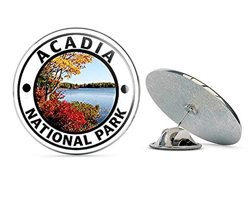 NYC Jewelers Round Acadia National Park (Hike Travel rv) Metal 0.75