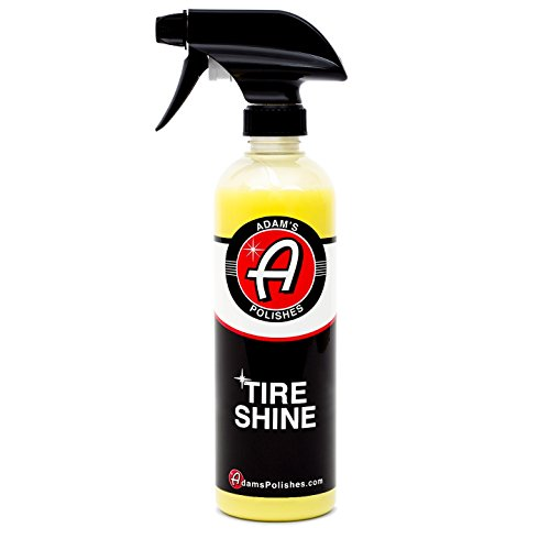 (Adam's Tire Shine 16oz - Achieve A Premium, Lustrous, Dark, Long Lasting Shine - Apply with A Spray to Our Pro Tire Hex Applicator for A Non-Greasy, No Sling Formulation Dressing)