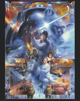 Star Wars   30Th Anniversary   Characters   Mini Paper Poster   Measures 20  X 16   50 X 40Cm