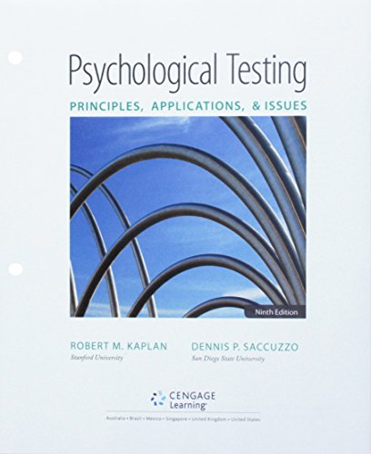 Bundle: Psychological Testing: Principles, Applications, and Issues, Loose-Leaf Version, 9th + MindTap Psychology, 1 ter