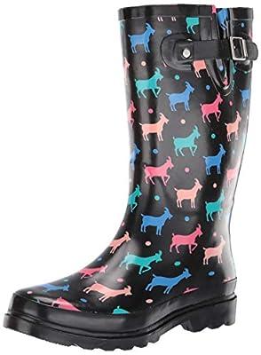 Western Chief Women's Dotty Goats Rain Boot