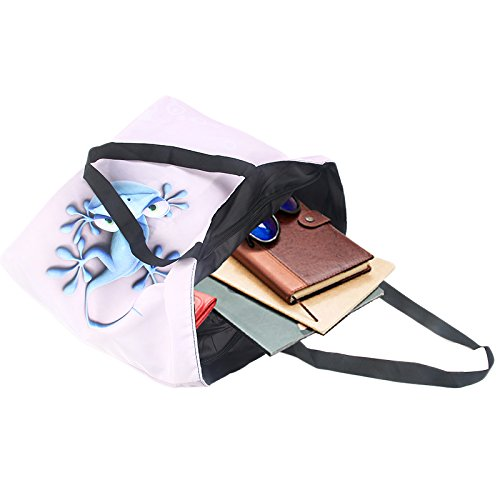 Newplenty Ladies Zippered Light Shoulder Shopping Tote Bag Handbag Beach Satchel (SB-6006) by newplenty (Image #2)