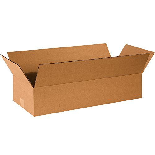 BOX USA B2610475PK Flat Corrugated Boxes, 26'' L x 10'' W x 4'' H,  (Pack of 75) by BOX USA