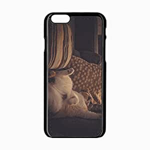 iPhone 6 Black Hardshell Case 4.7inch pillows lying sleeping Desin Images Protector Back Cover