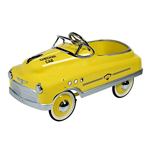 Taxi Pedal Car - Dexton Taxi Comet Sedan Ride-On, Yellow