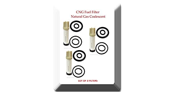Lot of 3 CNG Fuel Filter Natural Gas Coalescent Element Replacement of CLS112-6