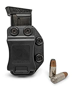 Concealment Express Single IWB/OWB KYDEX Magazine Holster/Mag Carrier - Ambidextrous - Concealed Carry - Adj. Retention - US Made