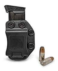 Ambidextrous, IWB/OWB Single Magazine Holster. Carry your spare mag with you at all times. Extremely versatile with mounting holes on both sides to accommodate your preferred carry position for either IWB/OWB Carry and Right Hand/Left Hand Dr...