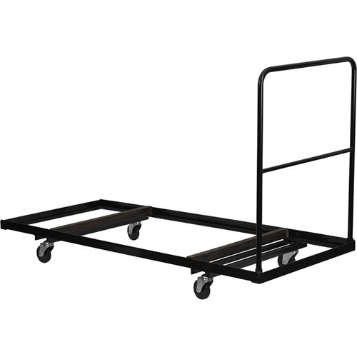 Flash Furniture Black Folding Table Dolly for 30''W x 72''D Rectangular Folding Tables by Flash Furniture
