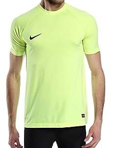 Nike Men's Dri FIT Select Short Sleeve Training Shirt, Yellow, Medium, 627207 703