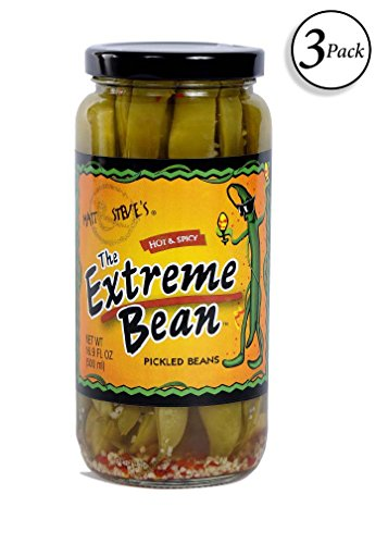 Spices Green Beans - The Extreme Bean - Hot & Spicy, Pickled Green Beans. 16 oz (3 pack)