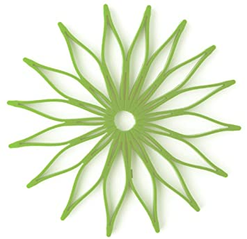Spice Ratchet 16815 Blossom Multi Use Silicone Trivet, Kiwi Green