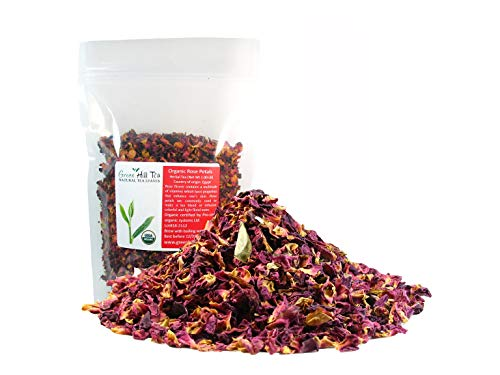 Organic Rose Flower Rose Petals Tea caffeine free herbal tea (Rose Flower Buds and Petals organic 1 LB)