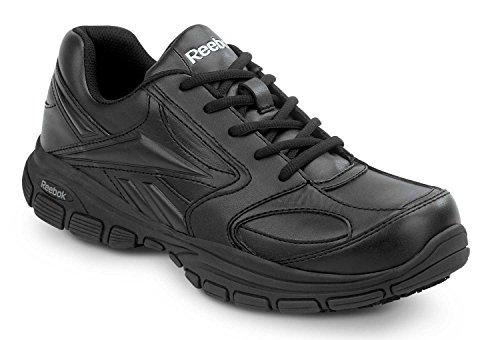 Reebok Senexis MaxTrax Men's Slip Resistant Sneaker (08.0 W, Black)