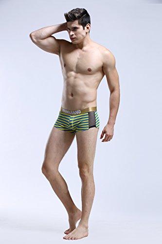 convesso Sexy Boxer per Station uomo Biancheria Cotton Low intima Maglia Giallo New U Trunks Alliance Nastro Phnom Penh Size Prospettiva pzBTqtTO