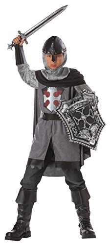 Costumes Dragon Child Knight Medieval (California Costumes Dragon Slayer Boys Costume with Sword & Shield Bundle Costume,)