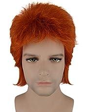 David Bowie Orange Mullet Wig HM-061
