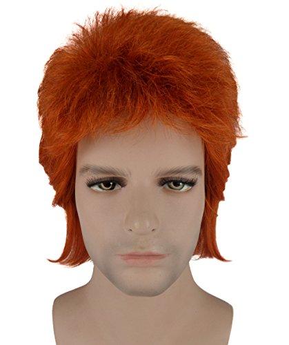 [70s Legendary Biritsh Pop Star Costume Wig BAHM-061] (Singer Fancy Dress Costumes)