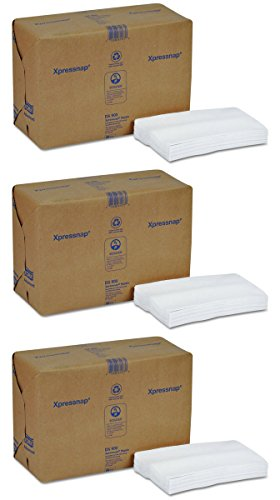 Tork DX900 Xpressnap Interfold Dispenser Napkins, 1-Ply, Bag-Pack, 13x8 1/2,White (3 Case of 6,000) by Tork (Image #1)'