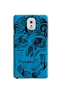 Durabl Great Quality Hard Case Floral Skull Blue Skin Hard Protective Case Cover For Samsung Galaxy Note3